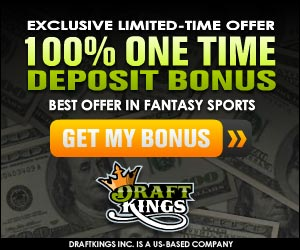 Draftkings 100% Bonus Offer